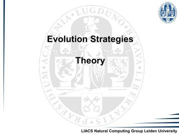ES Theory - Natural Computing Group, LIACS, Leiden University