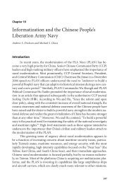 Informatization and the Chinese People's Liberation Army Navy
