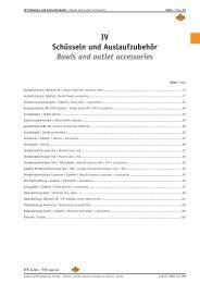 IV Schüsseln und Auslaufzubehör Bowls and outlet accessories