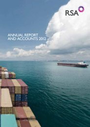ANNUAL REPORT AND ACCOUNTS 2012 - Royal and Sun Alliance