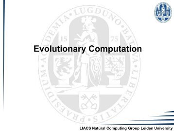 8. Evolutionary Algorithms - Natural Computing Group, LIACS ...