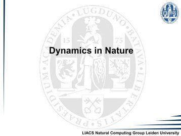 3. Nonlinear Dynamical Systems - Natural Computing Group, LIACS ...