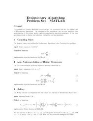 Evolutionary Algorithms Problem Set - MATLAB