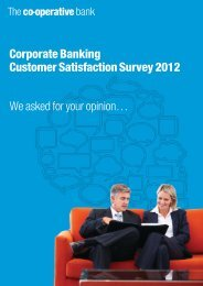 2012 Customer Satisfaction Results - The Co-operative Bank