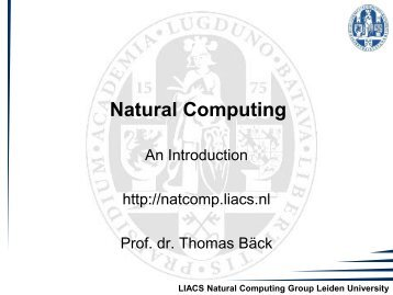 1. Introduction - Natural Computing Group, LIACS, Leiden University