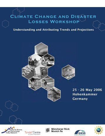 Climate Change and Disaster Losses Workshop - Insurance in a ...