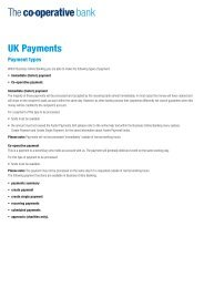 UK Payments - The Co-operative Bank