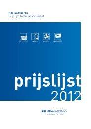 Itho Daalderop Prijslijst totaal assortiment