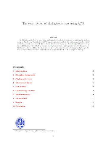 Sample thesis 1 - Natural Computing Group, LIACS, Leiden University