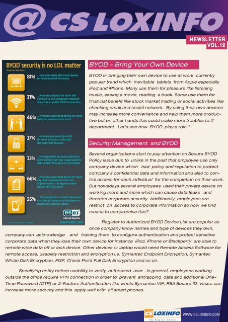 BYOD - Bring Your Own Device - CS LoxInfo