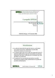 Il progetto SIPEAA Introduzione