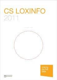 รายงานประจำปี 2554 - CS LoxInfo