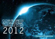 Provisional Programme - Clean Business International