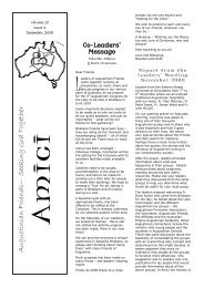 amici VOL 10 - issue 4 Dec 2008 - The Augustinians in Australia