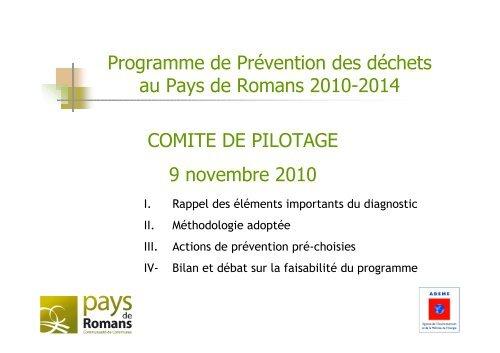 COMITE DE PILOTAGE 9 novembre 2010 Programme de ...