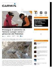 Prosegue il cammino di Tamara Lunger verso i ghiacciai del Pakistan