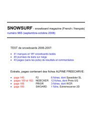 SNOWSURF- snowboard magazine (French ... - Extremecarving.com