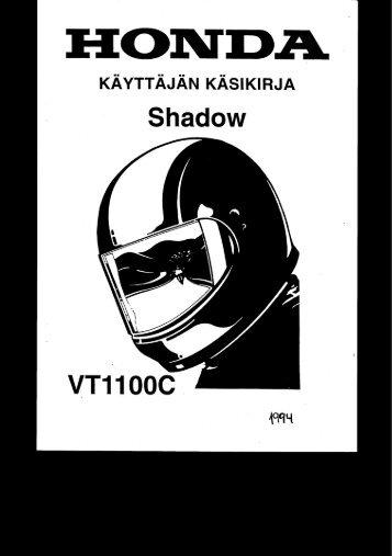 VT1100C 1994 käsikirja (.pdf, 1.95 MB) - Honda