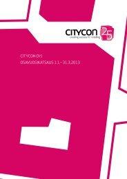 osavuosikatsaus ajalle 1.1.-31.3.2013 (pdf) - Citycon