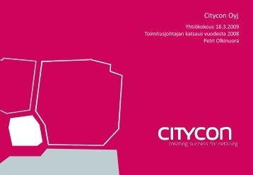 Toimitusjohtajan katsaus - Citycon Oyj