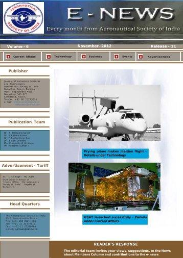November 2012 - The Aeronautical Society of India