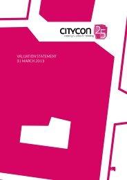 VALUATION STATEMENT 31 MARCH 2013 - Citycon