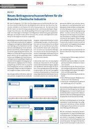 neues Beitragsvorschussverfahren für die Branche Chemische ...