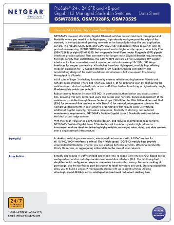 ProSafe® 24-, 24 SFP, and 48-port Gigabit L3 Managed ... - OSCS