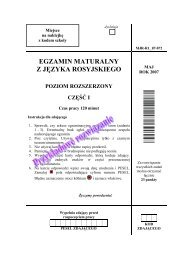 egzamin maturalny z języka rosyjskiego poziom rozszerzony część i