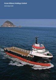 2009 Interim Report - Ocean Wilsons Holdings Ltd