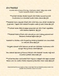 MVCC Summer Sunset Dinner Menu - Mission Valley Country Club