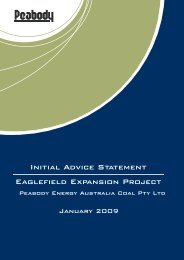 Initial Advice Statement Eaglefield Expansion ... - Peabody Energy