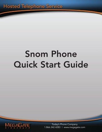 Snom 320 & 370 QuickStart Users Guide - Megagate.com