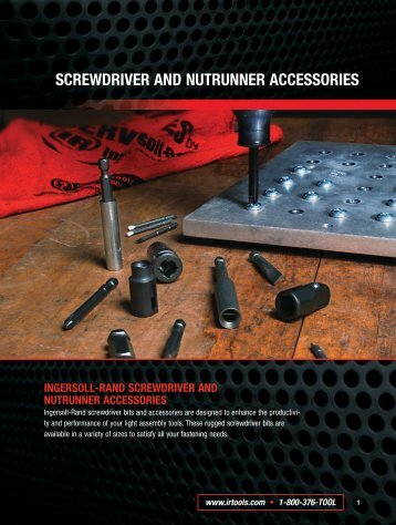 Ingersoll Rand Screwdriver and Nutrunner Accessories Catalog