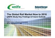 The Global Rail Market Now to 2016 - Roland Berger