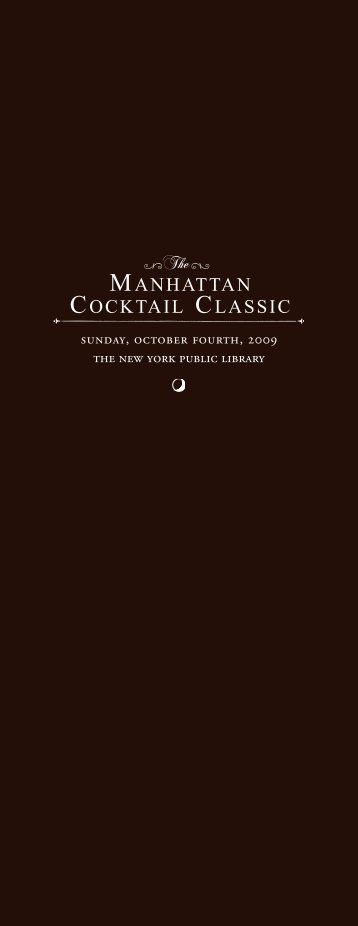 Section header - The Manhattan Cocktail Classic