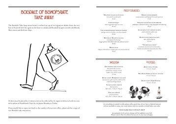 A la Carte Menu Download PDF - Boisdale