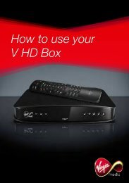How to use your V HD Box - Virgin Media