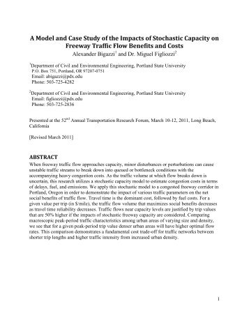 A Model and Case Study of the Impacts of Stochastic Capacity on ...
