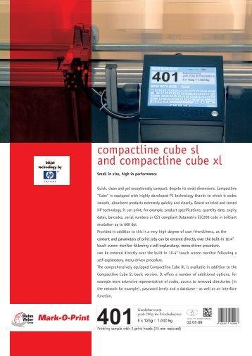 Compactline Cube brochure. - MGS Sistemas de Etiquetagem, Lda.