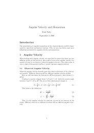 Angular Velocity and Momentum - Kurt Nalty
