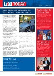 Great Service is Providing What the Customer Wants When ... - TIO