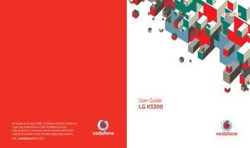 User Guide LG KS500 - Vodafone New Zealand