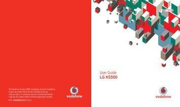User Guide LG KS500 - Vodafone New Zealand