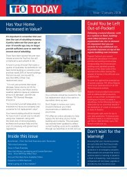 Has Your Home Increased in Value? Inside this issue Could ... - TIO