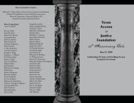 25th Anniversary Gala - Texas Access to Justice Foundation