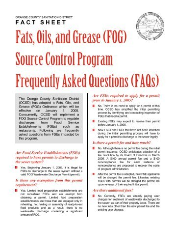 06. Frequently Asked Questions - Orange County Sanitation District