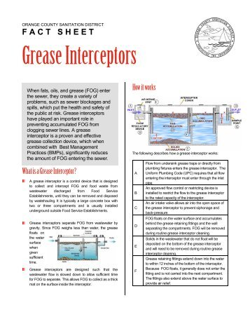 13. Grease Interceptors - Orange County Sanitation District
