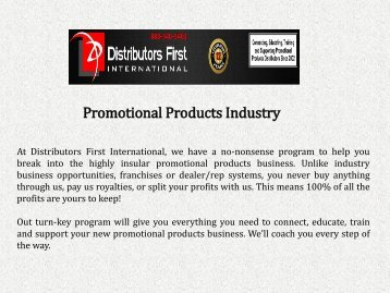 Promotional Products Industry