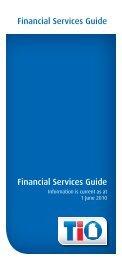 Financial Services Guide Financial Services Guide - TIO